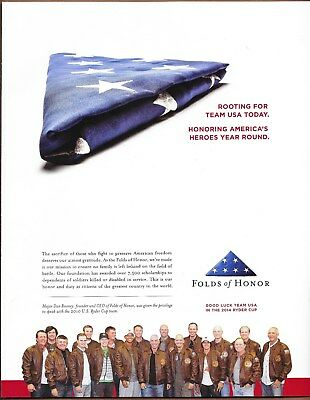 2010 US Ryder Cup Team Folds Of Honor Golf Single Page Magazine Print Ad 2014