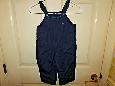 Old Navy Boy's Snowsuit Overalls Blue with Adjustable Straps Size 18-24 Months
