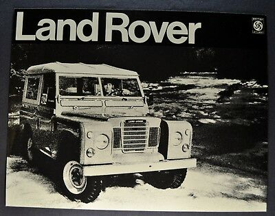 1972 Land Rover Deluxe Hardtop Sales Brochure Sheet Excellent Original 72