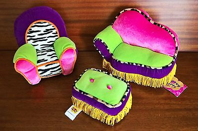 Lot of 3 Manhattan Toys - Groovy Girls Accessories - Lounger, Chair and Ottoman