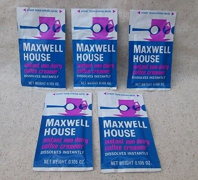 Vintage Maxwell House Coffee Creamer Packet Packets Sample Size Lot of 5 NOS