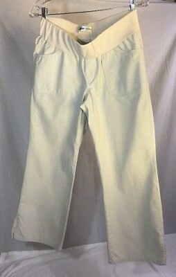 7d77e731206ab OLD NAVY Maternity Beige Capri Pants Size Small Under Belly Stretch Panel  Womens