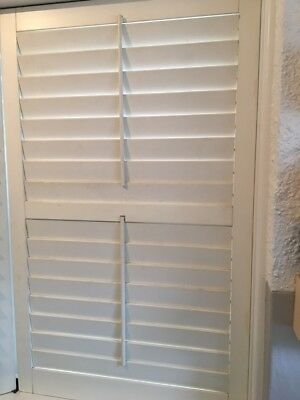 Timber Plantation Shutters cream/off-white colour various sizes available