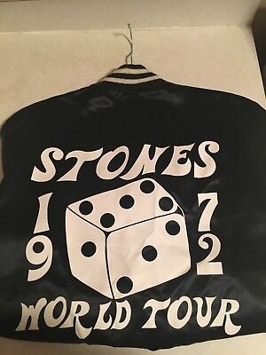 Official Rolling Stones 1972 World Tour Jacket Mint Condition