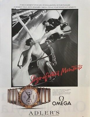 1986 OMEGA Watch Advanced Swiss Technology Significant Moments PRINT AD