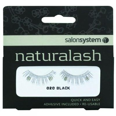 Salon System Naturalash Re-Usable Eyelashes - Black - 020