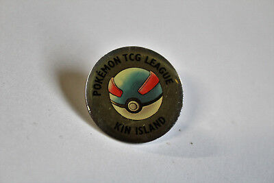 KIN ISLAND POKEMON TRADING CARD GAME LEAGUE GYM BADGE - rare TCG nintendo