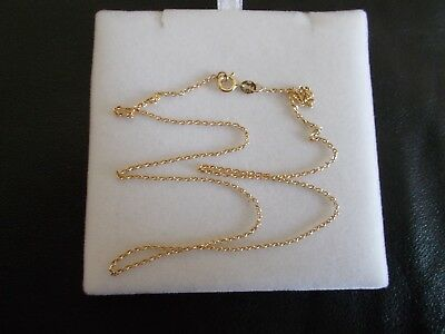 Solid 9ct Yellow Gold Necklace, Chain, Length 45.5cm, Stamped JM375, 2.15g