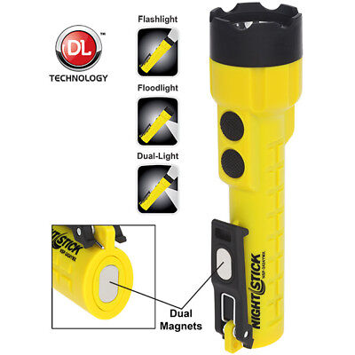 Nightstick NSP-2424YMX Dual-Light Flashlight w/Dual Magnets - 3 AA