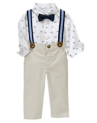NWT Gymboree Family Brunch Baby Boy Turtle Suspender Set 3-6 12 24M Wedding