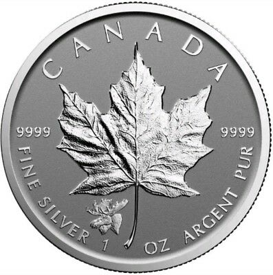 2017 1 Oz Silver $5 CANADIAN MOOSE PRIVY MAPLE LEAF Reverse Proof Coin.