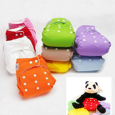 Reusable Baby Infant Nappy Cloth Diapers Soft Cover Washable Size Adjustable ~