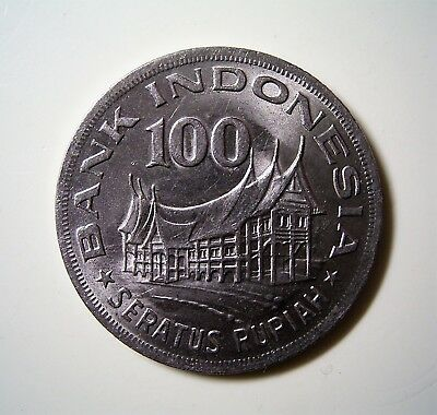 Indonesia 1978 100 Rupiah Coin, Great Circulated Condition                   *TC