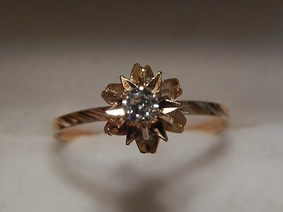 BAGUE ANCIENNE OR 18 CT taille 54