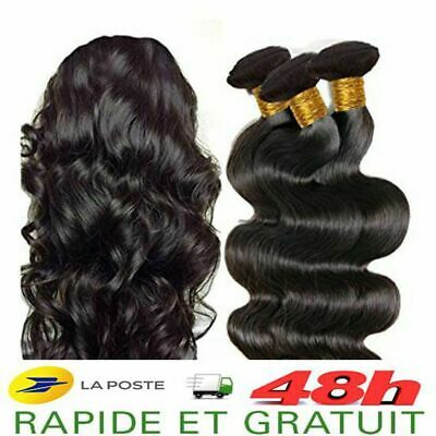Tissage Bresilien Extension De Cheveux Humain Virgin 100% Naturel Remy 5A+ 100G