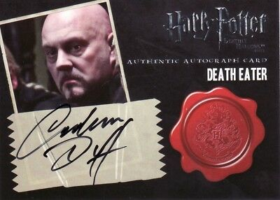 Harry Potter & the Deathly Hallows Part 2 Graham Duff as Death Eater Auto Card