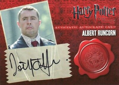 Harry Potter the Deathly Hallows Part 1 David O'Hara as Albert Runcon Auto Card