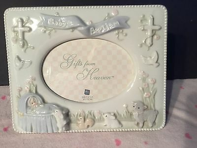 Russ® Gifts From Heaven™ Baby'S Baptism Porcelain Photo Frame Nwot