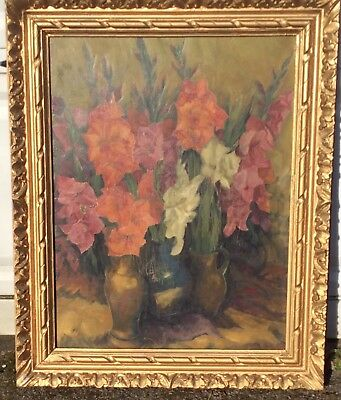 James Arundel collection. Still life oil painting of flowers in vases