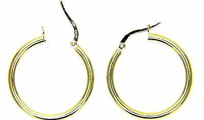 Yellow Gold Earrings 18Kt 750 Circles