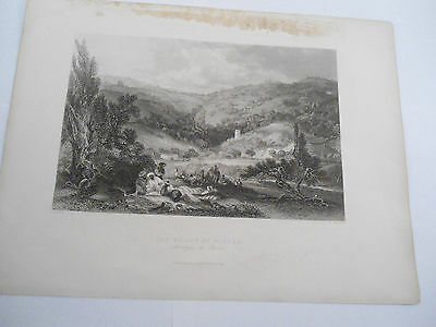 THE MOUNT OF OLIVE ETCHING RELIGIOUS PICTURE Original Engraved Fisher Son London