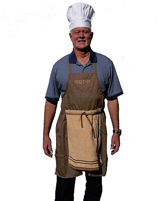 Deluxe Head Chef Father's Day Gag Gift Weenie Apron Funny Prank - Includes Hat!