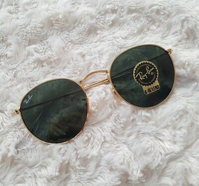 Ray Ban Sonnenbrille Round Metal RB3447 001 gold