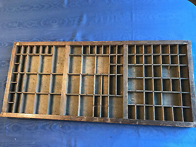 vintage print tray wooden drawer
