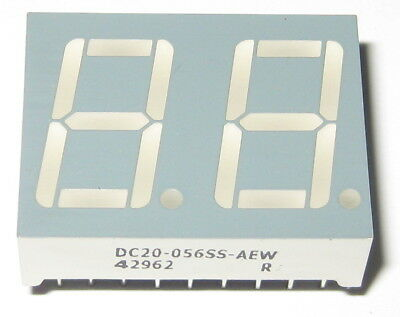 Dual Digit Bright Red 2.5V DC 7 Segment LED Display - Separate Cathodes - 0.57""