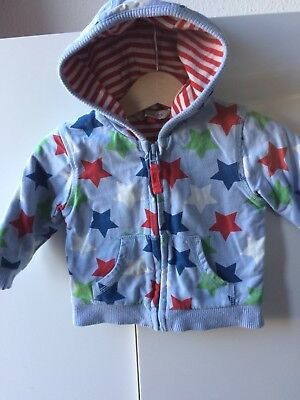 John Lewis Baby Boys Star Hoodie Zip Up Sweatshirt Stars 3-6 Months