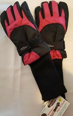 Snow Stoppers Extra Long Cuff Winter Gloves for Kids Med