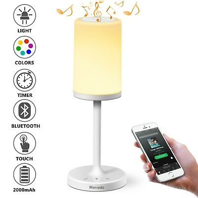 Bluetooth Speakers Bedside Lamp Night Light Smart Touch Control Table Lamp