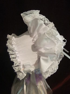 Ready to Smock Ruffled Infant Bonnet