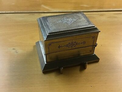 VINTAGE Plated CIGARETTE/TRINKET/JEWELLERY BOX - made in Japan - 3.75x3.25 ins