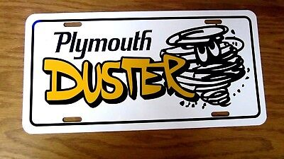 Plymouth DUSTER license plate car tag 1970 1971 1972 1973 1974 1975 1976 318