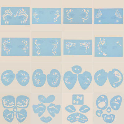 Face Paint Stencil Reusable Template Tattoo Painting Drawing Mold Makeup Tool