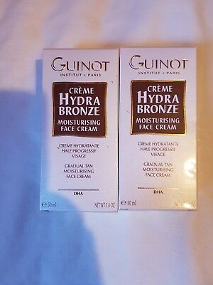 lot 2 guinot creme hydra bronze moisturising face cream visage 50 ml