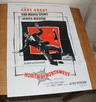 North By Northwest Repro Cinema Film Poster Hitchcock Carey Grant James Mason
