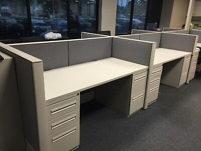 """5 1/2'Wx43""""H Telemarketing Cubicles/Call Center Cubicle System byHaworth Premise"""