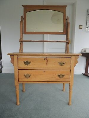 vintage antique dressing table chest of drawers