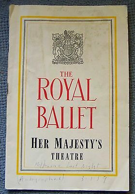 The Royal Ballet Program signed by Robert Helpmann -Anne Heaton & Phil Chatfield