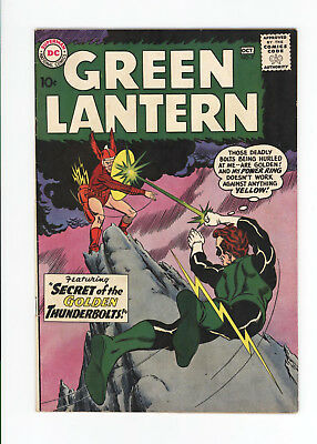 GREEN LANTERN #2 - UNRESTORED FN 6.0 - SCARCE 2nd ISSUE FROM 1960