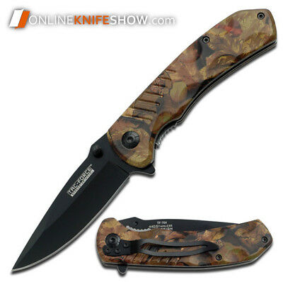 TAC-FORCE SPRING ASSISTED TACTICAL FOLDING POCKET KNIFE Open Assist JUNGLE CAMO