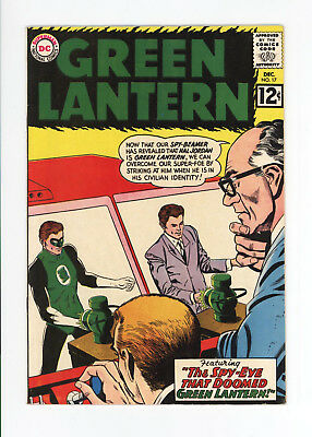 GREEN LANTERN #17 - UNRESTORED VF 8.0 with White Pages! - 1962