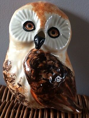 Cute, Vintage, Babbacombe Pottery, Owl, Wall Hanger. VGC.