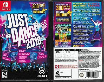 Just Dance 2018 (Nintendo Switch, 2017)  *Factory Sealed*