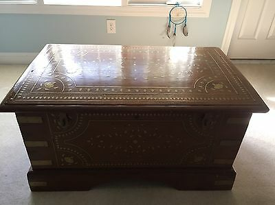 Beautiful Antique Chest-Steamer Chest/Trunk, From Ship in India,Incredible, Rare