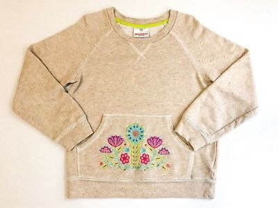 Hanna Andersson Girls 120 (US 6-7) Embroidered Sweatshirt