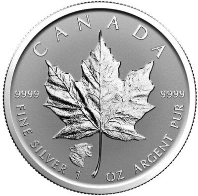 2017 1 Oz Silver CANADIAN COUGAR PRIVY MAPLE LEAF Reverse Proof Coin.