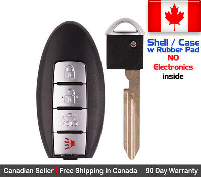 1x New Replacement Keyless Entry Key Fob Case For Nissan & Infiniti - Shell Only